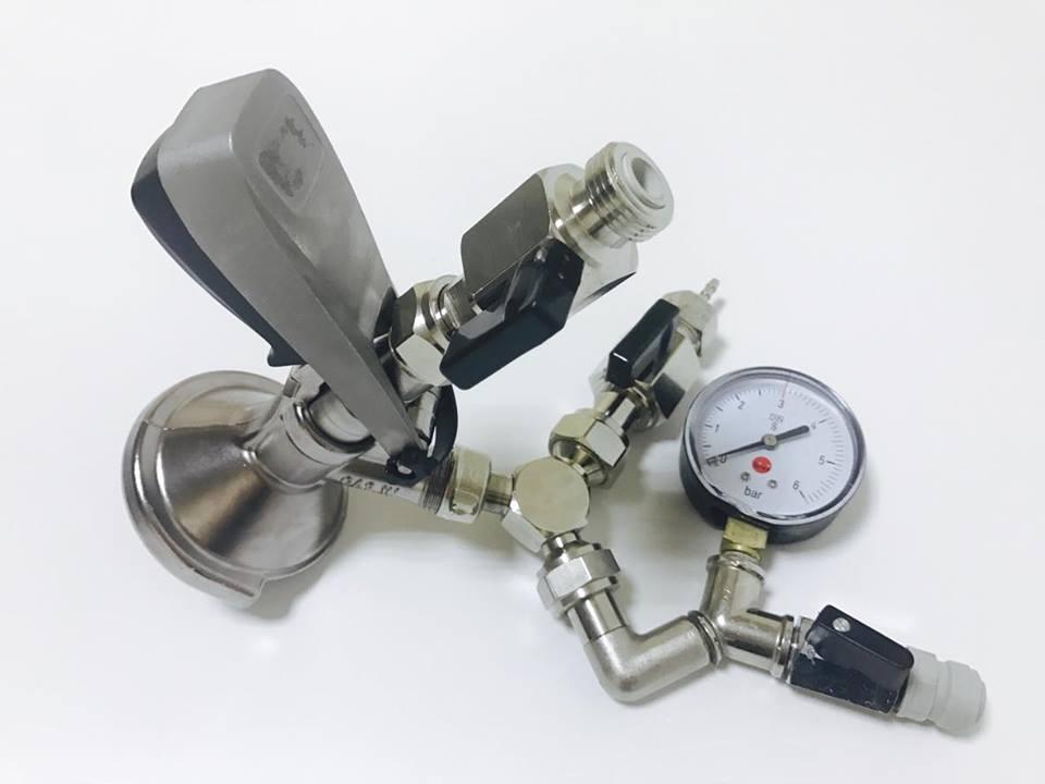 Głowica napełniająca z manometrem do kegów PZ