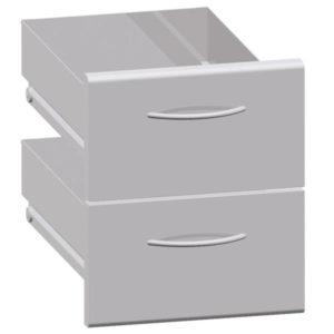 2 szuflady do kuchenki gazowej elektrycznej 700 CLASSIC stalowe 395x660x455mm Bartscher
