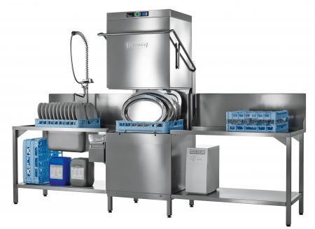 Zmywarka kapturowa do pojemników EN, talerzy z powiększoną komorą mycia, kosz 600x500 mm, PREMAX AUPL-10A HOBART