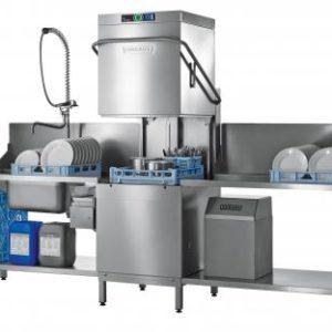 Zmywarka kapturowa do pojemników EN, talerzy z powiększoną komorą mycia i wbudownym zmiękczaczem wody, kosz 600x500 mm HOBART, PREMAX AUPLS-10A