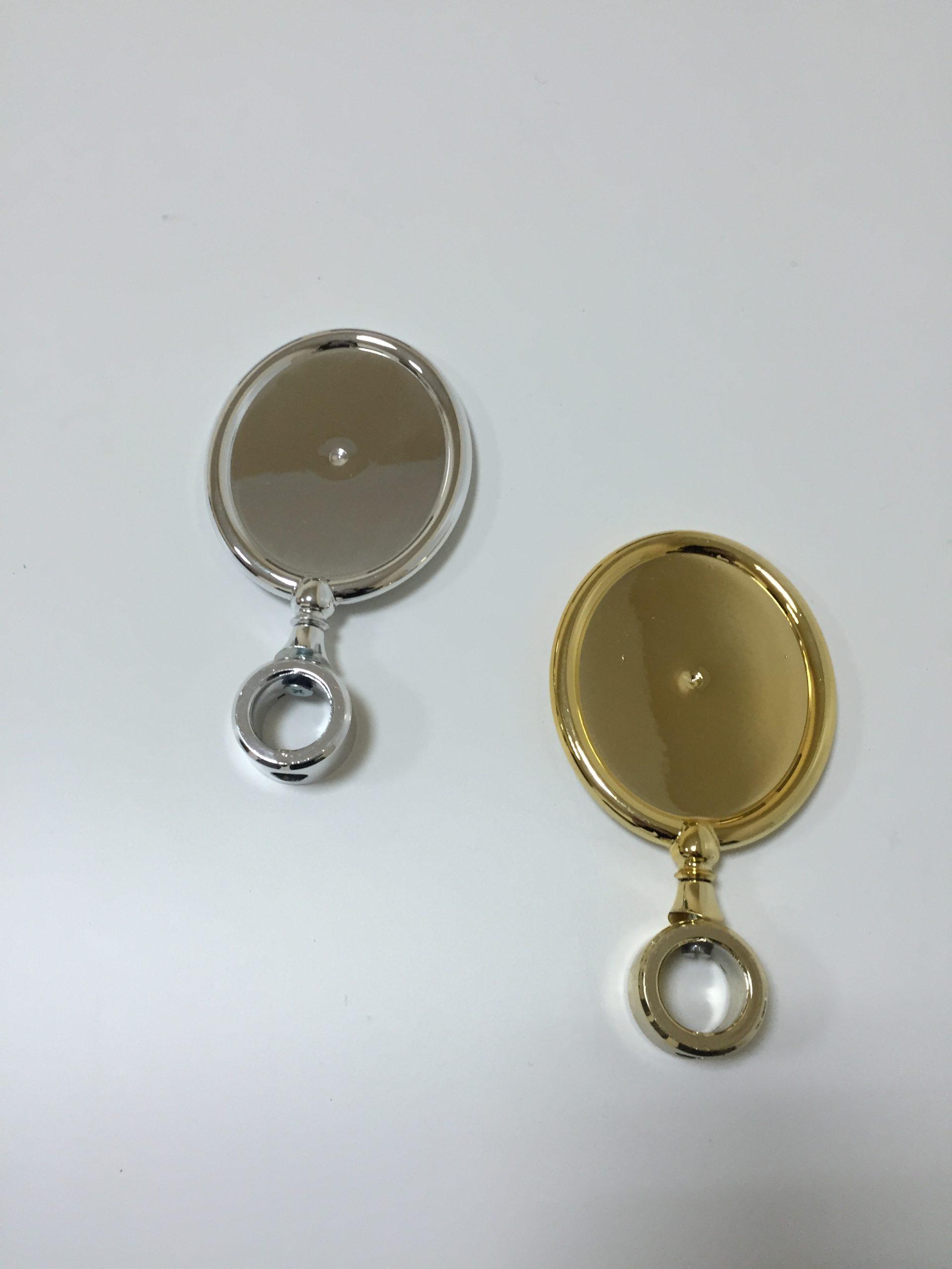Kompletny Medalion ABS OWALNY Srebrny