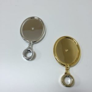 Kompletny Medalion ABS OWALNY Złoty