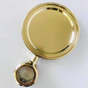 Kompletny Medalion METALOWY OKRĄGŁY Złoty