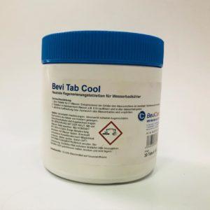 Bevi Tab Cool Sanitacja schładzarki wodnej zapobiega tworzeniu się glonów i śluzu.