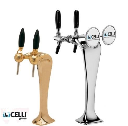 Kolumna do piwa Celli Cobra podwójna Złoto/Srebro