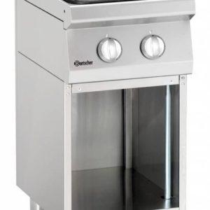 2-palnikowa kuchnia gazowa z otwartą podstawą szer. 400 x gł. 700 x wys. 850-900mm, 700 CLASSIC Bartscher