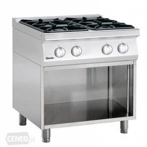 4-palnikowa kuchnia gazowa z otwartą podstawą szer. 800 x gł. 700 x wys. 850-900 mm, 700 CLASSIC Bartscher