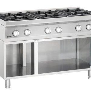 6-palnikowa kuchnia gazowa z otwartą podstawą szer. 1200 x gł. 700 x wys. 850-900 mm, 700 CLASSIC Bartscher