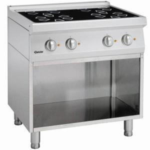 4-palnikowa kuchnia elektryczna z podstawą otwartą szer. 800 x gł. 700 x wys. 850-900 mm, 700 CLASSIC Bartscher
