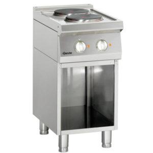 2-płytowa kuchnia elektryczna z podstawą otwartą szer. 400 x gł. 700 x wys. 850-900 mm, 700 CLASSIC Bartscher