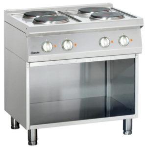 4-płytowa kuchnia elektryczna z podstawą otwartą szer. 800 x gł. 700 x wys. 850 - 900 mm, 700 CLASSIC Bartscher