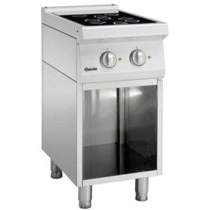 2-palnikowa kuchnia elektryczna z podstawą otwartą szer. 400 x gł. 700 x wys. 850-900 mm, 700 CLASSIC Bartscher