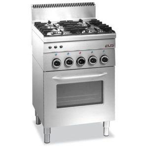 4-palnikowa kuchnia gazowa szer. 600 x gł. 600x SERIA 600 IMBISS Bartscher