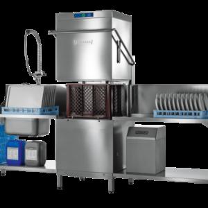 Zmywarka kapturowa do tac, pojemników EN z powiekszoną komorą mycia i wbudowanym zmiękczaczem wody PROFI AMXXLS-10A Hobart