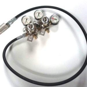 Reduktor podwójny 7 BAR z wężem CO2 firmy ODL