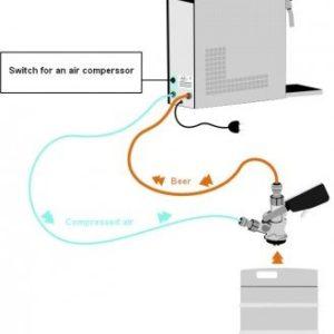 Schładzarka jednokranowa 25 l/h z wbudowaną sprężarką powietrza