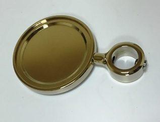 Kompletny Medalion METALOWY OKRĄGŁY Srebrny